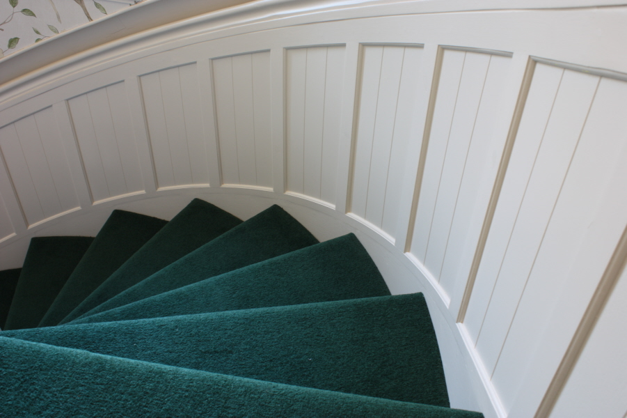 ... Curved Wall Panelling To Spiral Stair ...